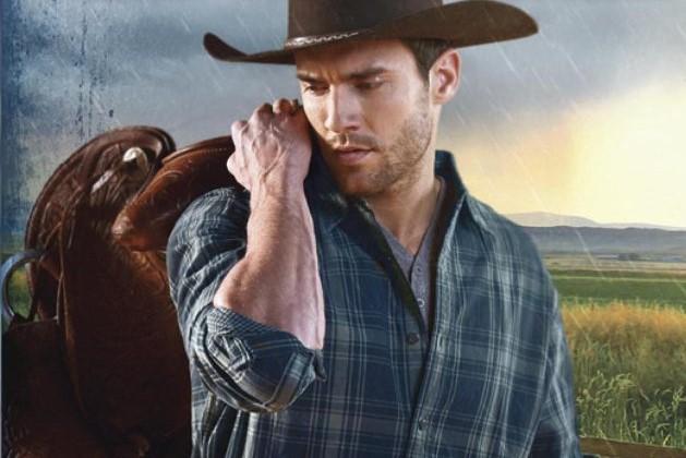 Cowboy with saddle