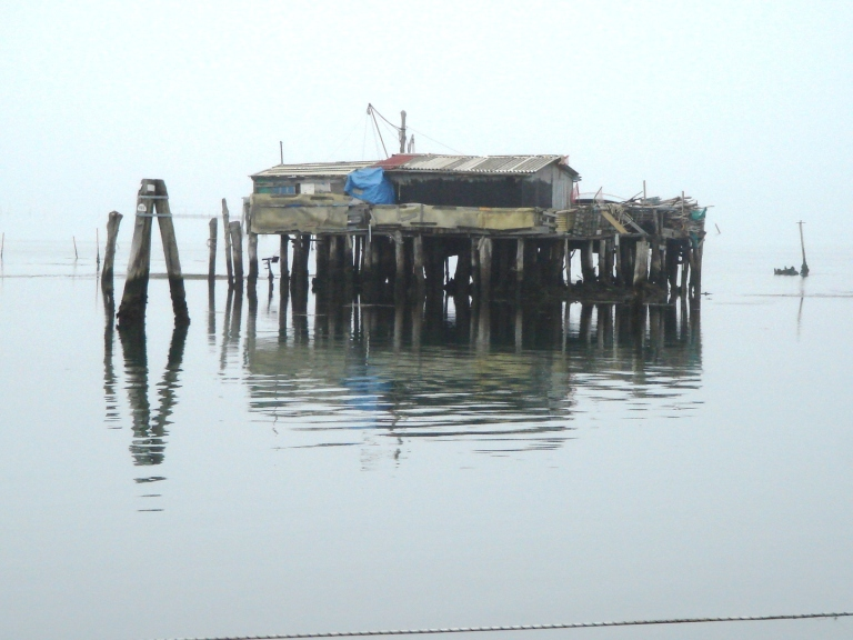 Fisherman's shed off Pellestrina on the Venetian lagoon
