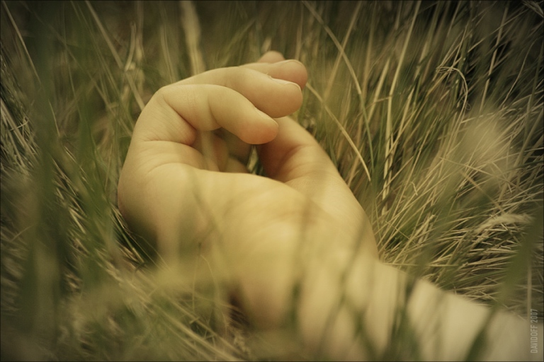 hand in grass